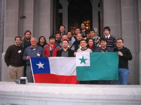 Partoprenintoj de la Sepa Landa Esperanto-Renkontiĝo en Santiago de Ĉilio